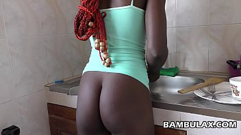 Young african maid filled with hot cum 10 min