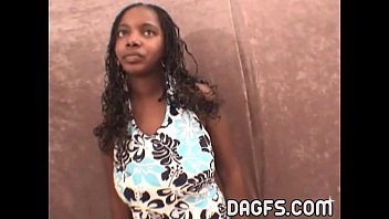 Incredible ebony teen blowjob audition at my office