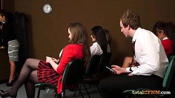 Schoolgirls in CFNM Porn Femdom 8 min