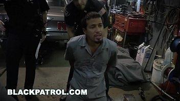 Black Patrol - Busty White Cops Shut Down A Chop Shop And Ride Big Black Cock