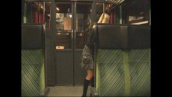 Public Amateur - Blond Sex in Train