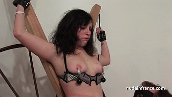 Young french brunette hard sodomized fisted and corrected in bdsm game