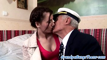 Doggystyled Teen Babe Loves Seniors Cock