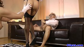 British MILF shares old man cock with teen