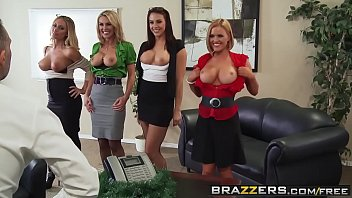 Brazzers - Big Tits at Work - Office 4-Play Christmas Edition scene starring Chanel Preston Krissy L porno izle