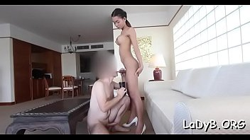 Lewd thai shemale entrances her guy with blow job skills