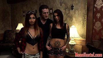 Tiedup babe c. and banged hard in hostel