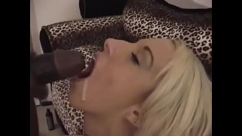Blonde girl gets fucked Blonde girl fiona cheeks gets on her knees to suck a black cock thn gets fucked