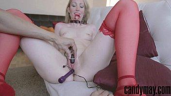 Candy May masturbation and blowjob