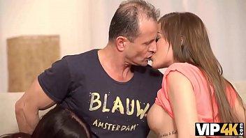 VIP4k. Eveline and Silvia want to taste boner of moms boyfriend