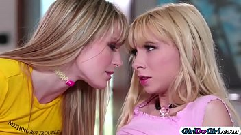 Lesbian making pic Annoying stepteen sucks on sis tits and makes her eat pussy