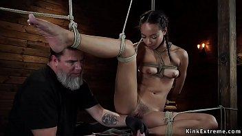 Sexy latina bdsm - Latina slave spanked in hogtie bondage