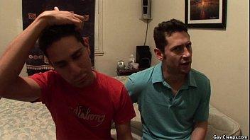 Gay blowjob while sleeping Aris has roommate lust.p9