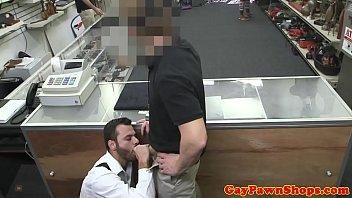 Broke waiter cocksucking for a quick buck