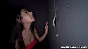NICHE PARADE - Petite Latina With Braces, Binky Beaz, Gloryhole Blowjob 90 sec