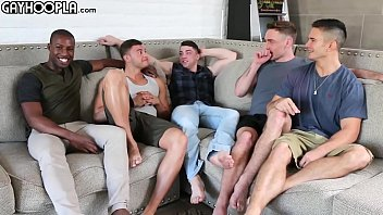 Hottest Young Guys Gay 5-Some ORGY All These Young STUDS So Eager To FUCK Each Other