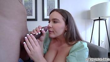 Loving stepmom natasha Nice giving her stepson a deepthroat blowjob
