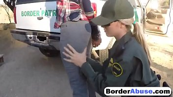 Get into porn who why - Young sluts in hot outdoor threesome with border patrol agent