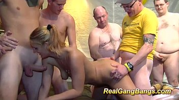sucking and fucking dongs in gangbang