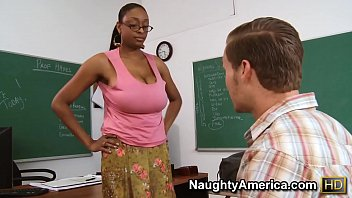 Naughty America - Find Your Fantasy Teacher Carmen Hayes fucking in the desk with her big ass porno izle