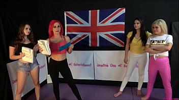 Tag-Team Bra and Panties match (Strip Wrestling Match) w. Losers gets Diaper ~ Big-Ass Brook Logan & Roxi Keogh vs Georgina Phillips & Jessica Morgan || (JDoE not WWE)