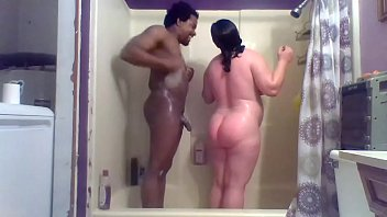 me and my wife taking an great shower