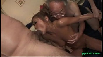 Hot Tanned Asian Girl Massaged With Lotion Fingered By Men Fucking With One Of T preview image