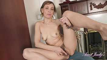 AuntJudys - 52yo Amateur Mrs.Gerda - Hairy Pussy in Panties