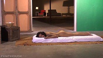 Penthouse Pet Skin Diamond indulges in Hardcore Oily Sex Massage Image