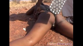 African bitch bonded and abused thumbnail