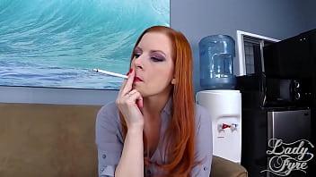 Smoking Teacher Gets Creampied by Student pov redhead milf Lady Fyre 20 min