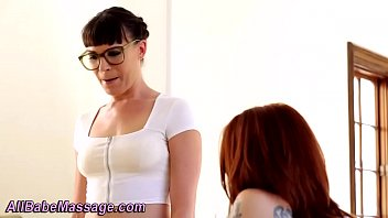 Lesbian masseuse rimmed