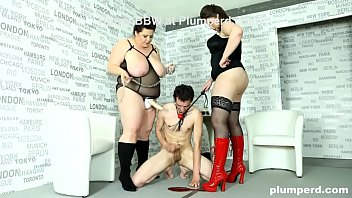 Outrageous BBW Strap-On Anal Humiliation
