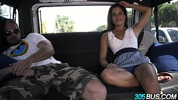 Hot amateur babe with braces and amazing ass Chichi Medina on 305bus 1.4 thumbnail