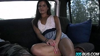 Hot amateur babe with braces and amazing ass Chichi Medina on 305bus 1.4