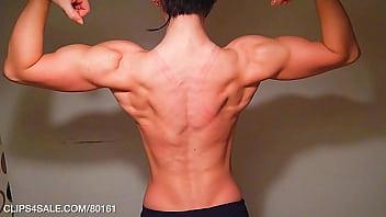 Massive Teen Muscle Back Flexing