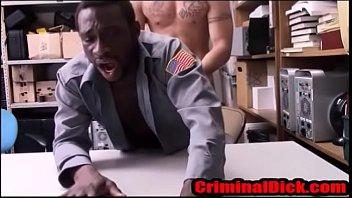 Black cop bareback hard white criminaldick...