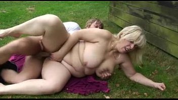 Chubby mature porn thumb Chubby mature blonde eats his cock and then gets drilled outside - free porn sex video - mature, b