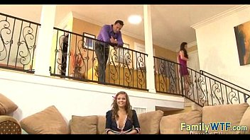 Husband and wife fuck the babysitter 748