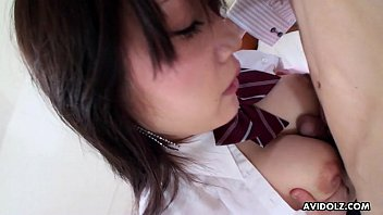 Big boob Asian schoolgirl fucked and toy stimulated
