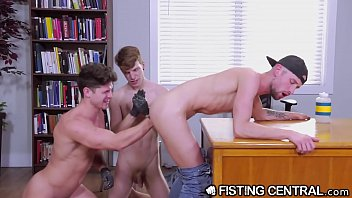 Young gay anal fisting - Fistingcentral college boys take turns sucking, fucking fisting