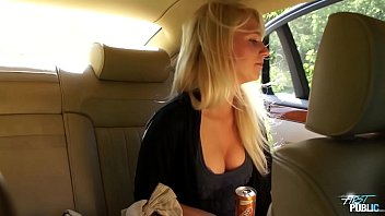 Lovely young babe rough fucked by the road
