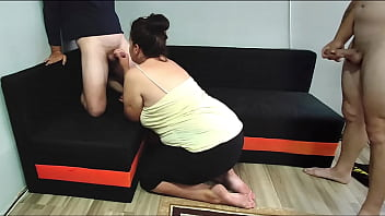 Thick White Wife Love her Big Ass to be Fucked while her Husband Watch