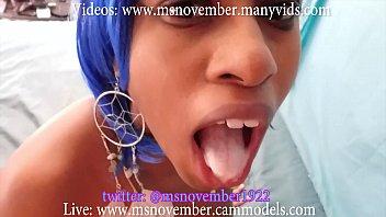 Dick Sucking Ebony Teen Compilation StepDad Blowjob Facial Step Daughter Eat Cum porno izle
