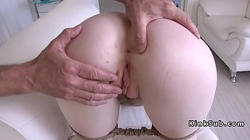 Hogtied Pale Slave Hairy Cunt Banged