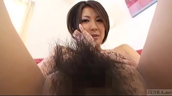 Pubic hair thumbs - Subtitled japanese amateur perfect bush naked body check