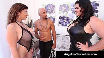 Cuban BBW Angelina Castro & King Noir Make Sara Jay Submit! 11分钟