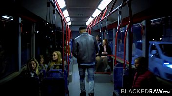 BLACKEDRAW Two Beauties Fuck Giant BBC On Bus! 13 min