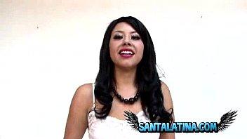 Colombiana en casting porno en Bogota