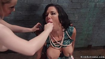 Busty Lesbian Anal Fists Tied Milf